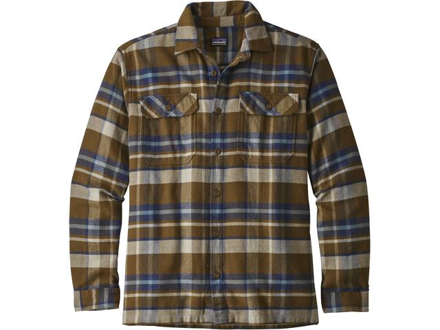 Patagonia Fjord LS Flannel Shirt Men basin: sediment